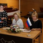 Председатель финляндской части Комиссии г-жа Яана Хусу-Каллио и председатель российской части Комиссии г-жа Т.В. Бокова